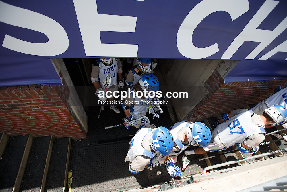2014 May 23: Duke Blue Devils during practice at M&T Bank Stadium in Baltimore, MD.