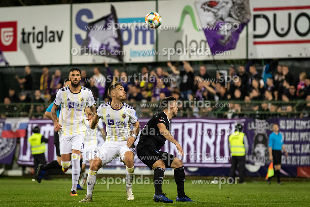 Players of NK Maribor and NŠ Mura during football match between NŠ Mura and NK Maribor in semifinal Round of Pokal Telekom Slovenije 2018/19, on April 24, 2019 in Fazanerija, Murska Sobota, Slovenia. Photo by Blaž Weindorfer / Sportida