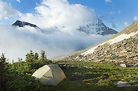 Backcountry camp, Mount Robson Provincial Park British Columbia Canada