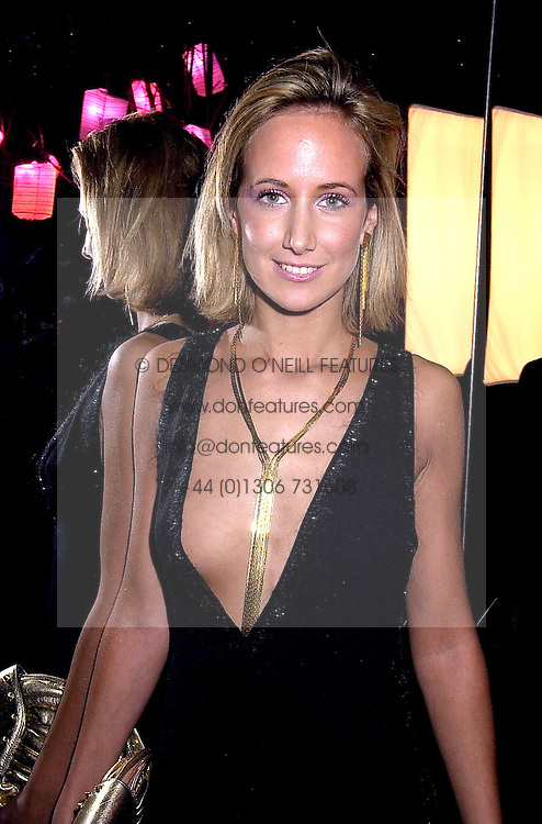 LADY VICTORIA HERVEY at a dinner in London on 24th October 2000.OID 108