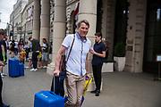 LUBLIN, POLEN 2017-06-23<br /> H&aring;kan Ericson l&auml;mnar Lublin efter Sveriges U21 landslags press konferens p&aring; IBB Grand Hotel Lublinianka den 23 juni, 2017. <br /> Foto: Nils Petter Nilsson/Ombrello<br /> Fri anv&auml;ndning f&ouml;r kunder som k&ouml;pt U21-paketet.<br /> Annars Betalbild.<br /> ***BETALBILD***