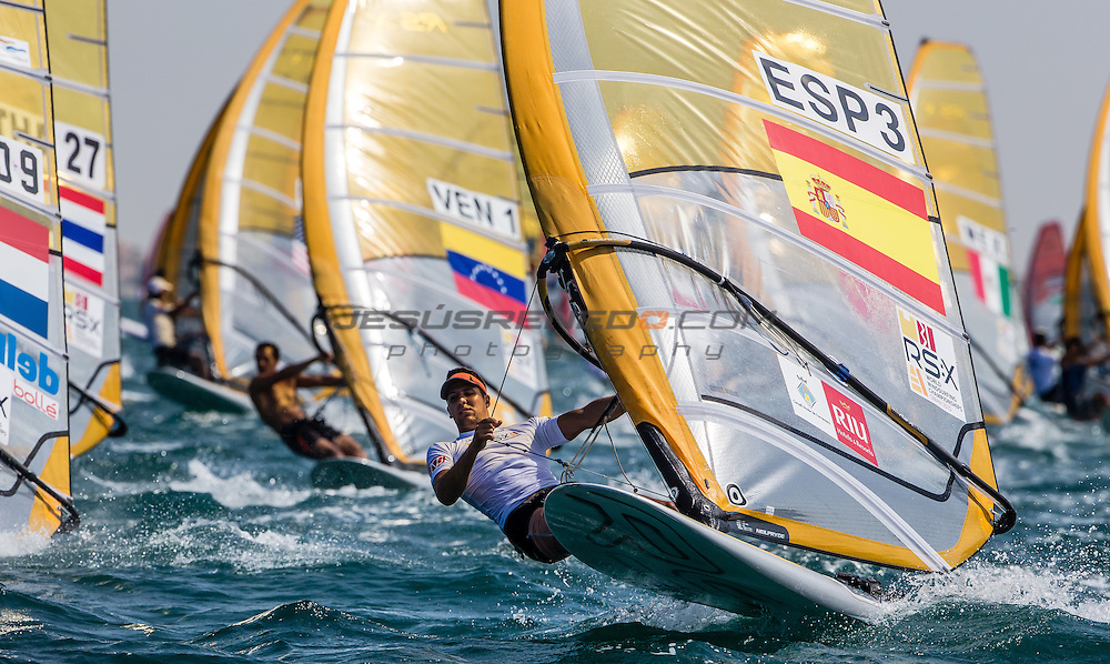 RS:X WORLD CHAMPIONSHIP 2015, October 17th-24th Al Mussanah Sports City, Sultanate of Oman.Practice race<br /> <br /> Credit Jesus Renedo/Sailing Energy