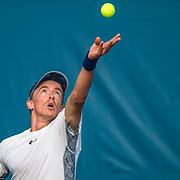 August 20, 2016, New Haven, Connecticut: <br /> Jose Statham in action during a US Open National Playoffs match at the 2016 Connecticut Open at the Yale University Tennis Center on Saturday, August  20, 2016 in New Haven, Connecticut. <br /> (Photo by Billie Weiss/Connecticut Open)