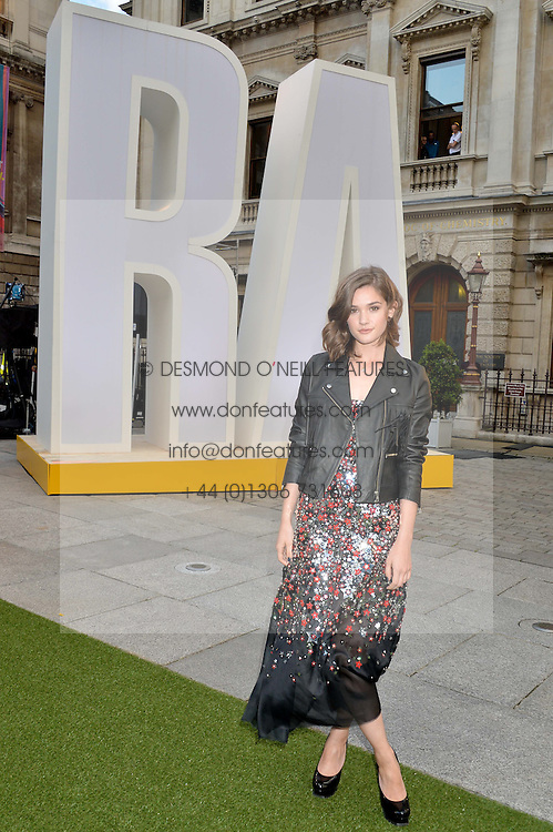 SAI BENNETT at the annual Royal Academy of Art Summer Party held at Burlington House, Piccadilly, London on 4th June 2014.