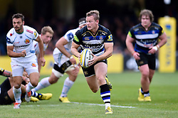 Chris Cook of Bath Rugby goes on the attack - Mandatory byline: Patrick Khachfe/JMP - 07966 386802 - 17/10/2015 - RUGBY UNION - The Recreation Ground - Bath, England - Bath Rugby v Exeter Chiefs - Aviva Premiership.