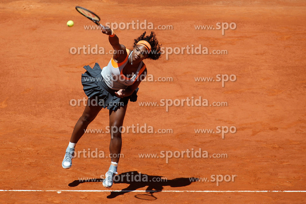 06.05.2015, Caja Magica, Madrid, ESP, WTA Tour, Mutua Madrid Open, im Bild Serena Williams from USA // during the Madrid Open of WTA World Tour at the Caja Magica in Madrid, Spain on 2015/05/06. EXPA Pictures &copy; 2015, PhotoCredit: EXPA/ Alterphotos/ Victor Blanco<br /> <br /> *****ATTENTION - OUT of ESP, SUI*****