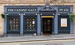 Exterior view of Canons Gait pub on Royal Mile in Edinburgh, Scotland, UK