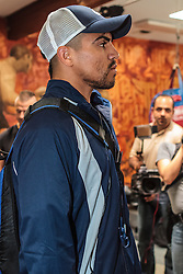 LOS ANGELES - JUNE 20: Former World Champion Victor 'Vicious' Ortiz (29-3-2,22 KO's) of Ventura, Calif at Media Workout held at the Fortune Boxing Gym in Los Angeles,CA. All fees must be agreed prior to publication, Byline and/or web usage link must read PHOTO © Eduardo E. Silva/SILVEX.PHOTOSHELTER.COM Failure to byline correctly will incur double the agreed fee.