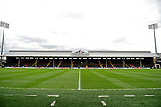 Craven Cottage from the dug out before the EFL Sky Bet Championship match between Fulham and Aston Villa at Craven Cottage, London, England on 17 April 2017. Photo by Jon Bromley.