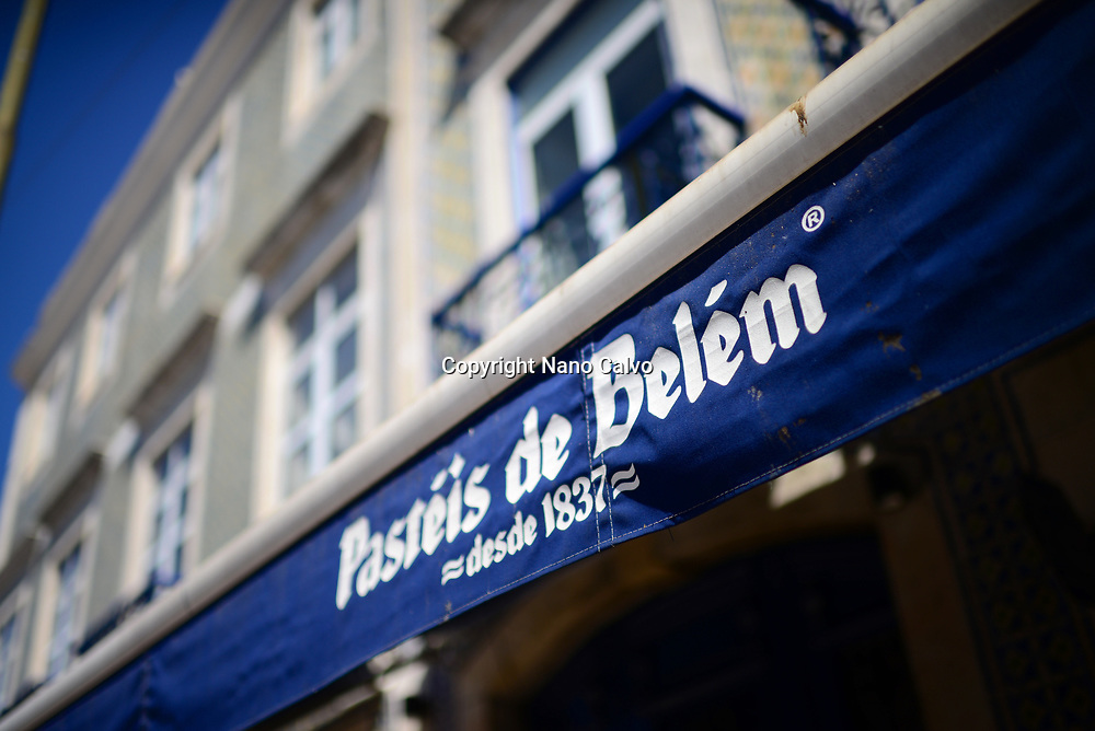 Pastéis de Belém bakery cafe in Lisbon, making the original following an ancient and secret recipe from the Mosteiro dos Jerónimos (Jerónimos Monastery), since 1837.