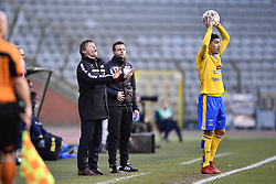 February 17, 2018 - Brussels, BELGIUM - Cercle's head coach Frank Vercauteren pictured during a soccer game between Union Saint-Gilloise and Cercle Brugge, in Brussels, Saturday 17 February 2018, on day 27 of the division 1B Proximus League competition of the Belgian soccer championship. BELGA PHOTO YORICK JANSENS (Credit Image: © Yorick Jansens/Belga via ZUMA Press)
