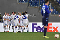 Esultanza Gol di tacco di Viktor Tsyganov Dinamo. Viktor Tsyganov of Dinamo celebrates after scoring with an heel shot . Goal celebration  <br /> Roma 08-03-2018 Stadio Olimpico Football Europa League 2017/2018 Round of 32 Lazio - Dinamo Kiev Foto Antonietta Baldassarre/Insidefoto