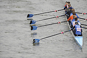 Putney/Barnes,  Great Britain,  Kingston 4 approach  Barnes Rail Bridge - 2008 Head of the River Race. Raced from Mortlake to Putney, over the Championship Course.  15/03/2008  [Mandatory Credit. Peter Spurrier/Intersport Images] Rowing Course: River Thames, Championship course, Putney to Mortlake 4.25 Miles,