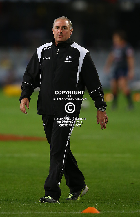 DURBAN, SOUTH AFRICA - MAY 29: Gary Gold (Sharks Director of Rugby) during the Super Rugby match between Cell C Sharks and Melbourne Rebels at Growthpoint Kings Park on May 29, 2015 in Durban, South Africa. (Photo by Steve Haag/Gallo Images)