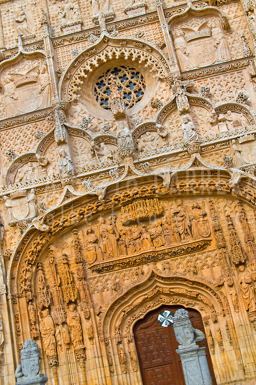 Alberto Carrera, Facade detail,Churh of San Pablo, Gothic Plateresque style,  Valladolid, Castilla y León, Spain, Europe