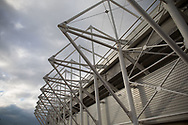 A general view of Liberty Stadium, home of Ospreys<br /> <br /> Photographer Simon King/Replay Images<br /> <br /> Guinness PRO14 Round 13 - Ospreys v Cardiff Blues - Saturday 6th January 2018 - Liberty Stadium - Swansea<br /> <br /> World Copyright &copy; Replay Images . All rights reserved. info@replayimages.co.uk - http://replayimages.co.uk