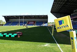 Aviva flag marking at The Kassam Stadium - Photo mandatory by-line: Robbie Stephenson/JMP - Mobile: 07966 386802 - 16/05/2015 - SPORT - Rugby - Oxford - Kassam Stadium - London Welsh v Saracens - Aviva Premiership