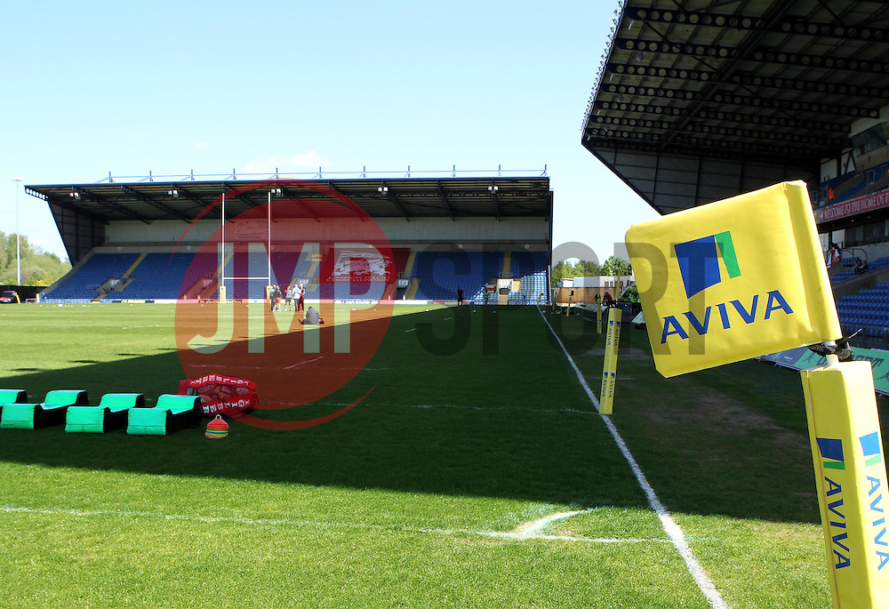 Aviva flag marking at The Kassam Stadium - Photo mandatory by-line: Robbie Stephenson/JMP - Mobile: 07966 386802 - 16/05/2015 - SPORT - Rugby - Oxford - Kassam Stadium - London Welsh v Saracens - Aviva Premiership