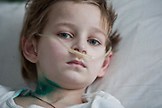 A child in the intensive care unit of the childrens regional hospital, Gomel city in southern Belarus. Chernobyl's human costs are widespread affecting about seven million people.A generation later children are being born with birth defects ,heart problems and thyroid cancer.The crippled economy of Belarus has led to poverty, social problems and domestic abuse.