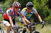 Sykkel<br /> Tour de France<br /> Foto: DPPI/Digitalsport<br /> NORWAY ONLY<br /> <br /> CYCLING - TOUR DE FRANCE 2009 - ANDORRA ARCALIS (AND) - 10/07/2009<br /> <br /> STAGE 7 - BARCELONA > ANDORRA ARCALIS - KURT-ASLE ARVESEN (NOR) / TEAM SAXO BANK - LANCE ARMSTRONG (USA) / ASTANA