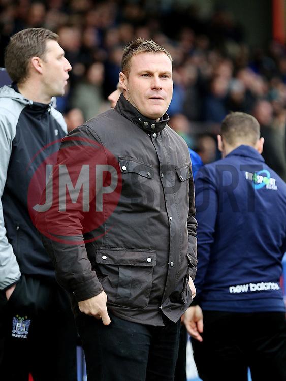 Bury Manager David Flitcroft  - Mandatory byline: Matt McNulty/JMP - 06/12/2015 - Football - Spotland Stadium - Rochdale, England - Rochdale v Bury - FA Cup