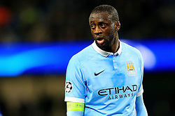 Yaya Toure of Manchester City wears the Captains armband - Mandatory byline: Matt McNulty/JMP - 15/03/2016 - FOOTBALL - Etihad Stadium - Manchester, England - Manchester City v Dynamo Kyiv - Champions League - Round of 16