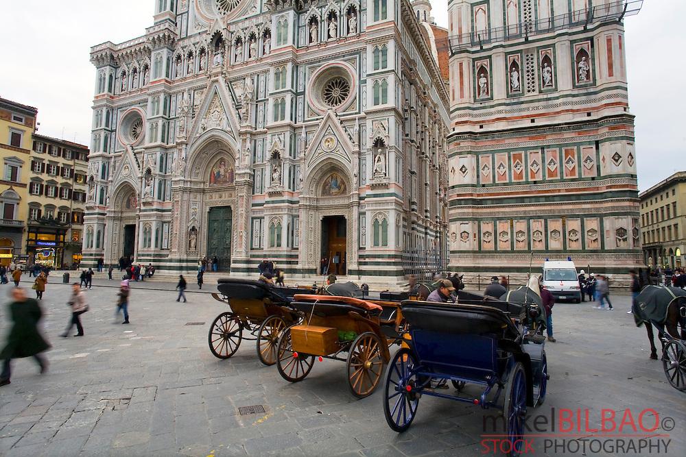 The Basilica di Santa Maria del Fiore (Duomo).<br /> Florence, Tuscany region, Italy