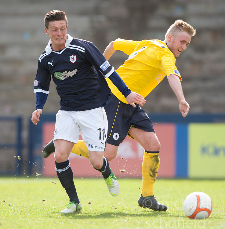 Raith Rovers Joe Cardle and Falkirk's Craig Sibbald..Raith Rovers 0 v 0 Falkirk, 27/4/2013..© Michael Schofield.