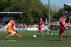 NEWTOWN, WALES - Sunday, May 6, 2018: Michael Wilde of Conahs Quay Nomads scores his sides third goal during the FAW Welsh Cup Final between Aberystwyth Town and Connahs Quay Nomads at Latham Park. (Pic by Paul Greenwood/Propaganda)