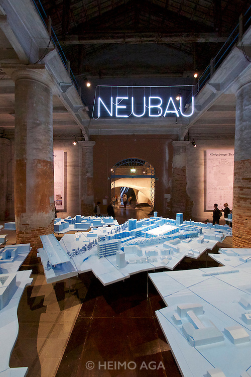 """Venice, Italy - 15th Architecture Biennale 2016, """"Reporting from the Front"""".<br /> Arsenale.<br /> The Work of Bel Architects in Berlin."""