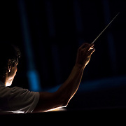 September 23, 2015 - New York, NY : Marco Armiliato conducts during a dress rehearsal for Gaetano Donizetti's 'Anne Bolena' at the Metropolitan Opera at Lincoln Center on Wednesday. CREDIT: Karsten Moran for The New York Times