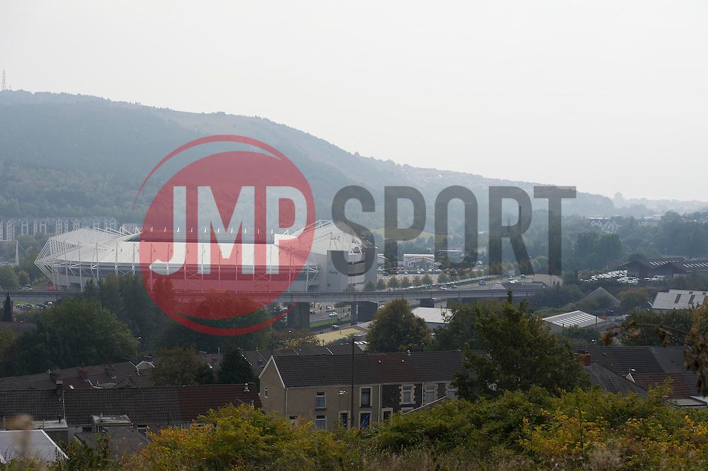 General view of Liberty stadium from Trewyddfa road. - Mandatory byline: Alex James/JMP - 07966 386802 - 04/10/2015 - FOOTBALL - Liberty stadium - Swansea, England - Swansea City  v Tottenham hotspur - Barclays Premier League