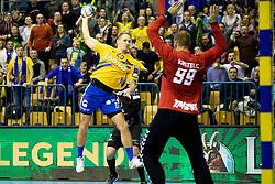 Tilen Kodrin of RK Celje Pivovarna Lasko during handball match between RK Celje Pivovarna Lasko (SLO) and HC PPD Zagreb (CRO) in Group phase of VELUX EHF Men's Champions League 2018/19, November 18, 2018 in Arena Zlatorog, Celje, Slovenia. Photo by Urban Urbanc / Sportida
