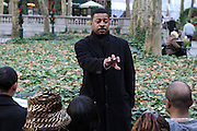 """l to r: Robert Townsend and Jeff Friday at The Robert Townsend's """"The Ultimate Pitch"""" Master Class Produced by Film Life and held inpromptu at Byrant Park on November 21, 2009 in New York City."""
