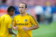 FRISCO, TX - AUGUST 11:  Landon Donovan #10 of the Los Angeles Galaxy warms up against FC Dallas on August 11, 2013 at FC Dallas Stadium in Frisco, Texas.  (Photo by Cooper Neill/Getty Images) *** Local Caption *** Landon Donovan