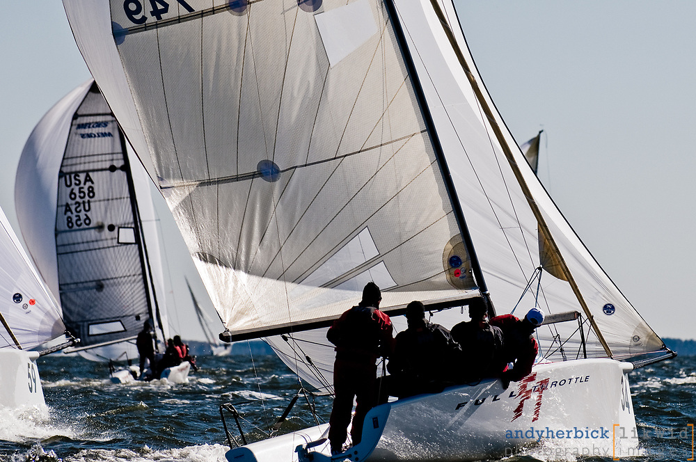 OCTOBER 29, 2008 - ANNAPOLIS, MD, USA - Day 2 of the 2008 Melges 24 North American Championships on the Chesapeake Bay. - IMAGE © ANDY HERBICK 2008 | www.andyherbickphotography.com - ALL RIGHTS RESERVED.