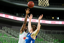 Marvin Jones of Petrol Olimpija during basketball match between KK Petrol Olimpija and KK Rogaska in Round #5 of Liga Nova KBM za prvaka 2018/19, on March 31, 2019, in Arena Stozice, Ljubljana, Slovenia. Photo by Vid Ponikvar / Sportida