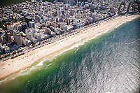 View of Ipanema and Leblon neighborhoods and the Atlantic Ocean, in Rio de Janeiro, Brazil, on Saturday, Feb. 2, 2013.