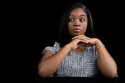 Headshot of teen African-American actress singer.