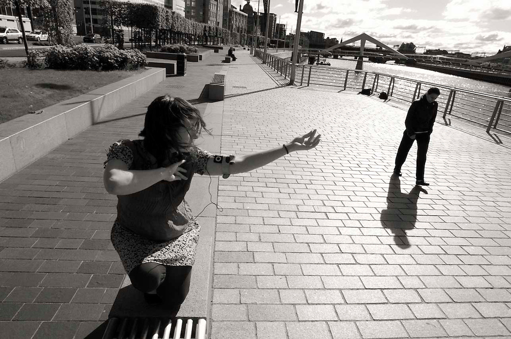 Kate E Deeming, Glasgow's Morning Dancer in a still from the PaperCamera short film.