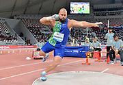 Michal Haratyk aka Michal Haratyk (POL) places fifth in the shot put at 69-6 (21.18m) during the IAAF Doha Diamond League 2019 at Khalifa International Stadium, Friday, May 3, 2019, in Doha, Qatar (Jiro Mochizuki/Image of Sport)