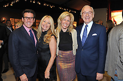 Left to right, MICHAEL BRUNO founder of online luxury marketplace 1stdibs, CLAIR WATSON, STACY McLAUGHLAN and LORD CHADLINGTON at a preview evening of the annual London LAPADA (The Association of Art & Antiques Dealers) antiques Fair held in Berkeley Square, London on 18th September 2012.