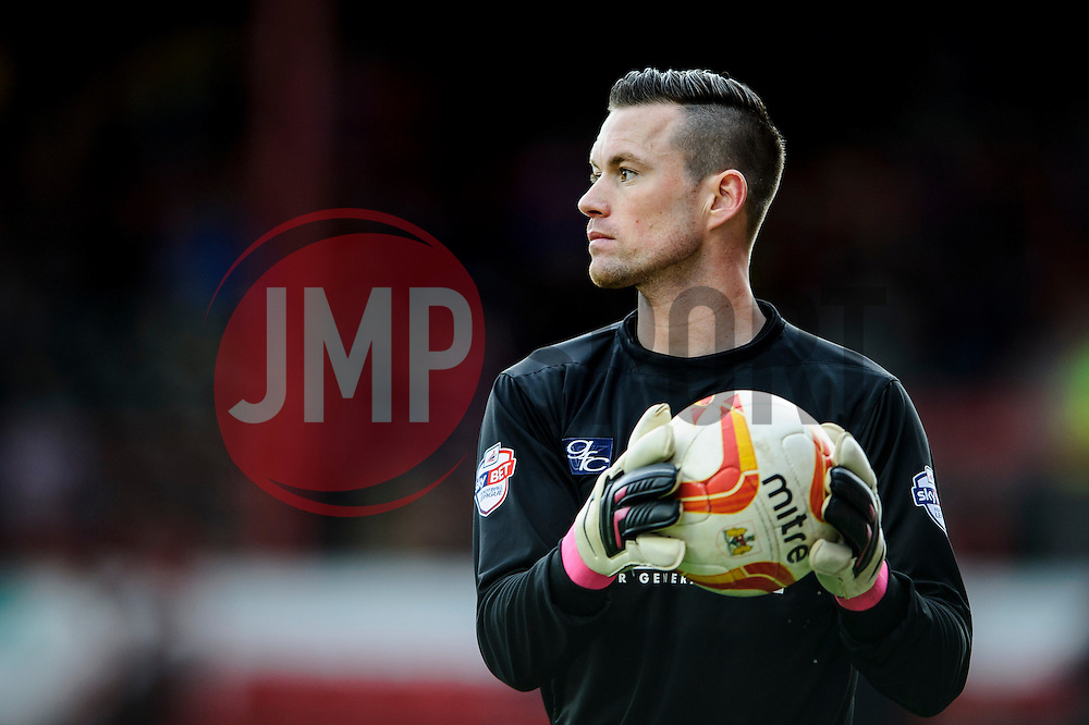 Gillingham Goalkeeper Stuart Nelson (ENG) looks on - Photo mandatory by-line: Rogan Thomson/JMP - 07966 386802 - 01/03/2014 - SPORT - FOOTBALL - Ashton Gate, Bristol - Bristol City v Gillingham - Sky Bet League One.