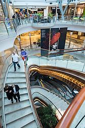 Interior of Burjuman shopping mall in Dubai United Arab emirates
