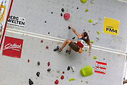 31.07.2015, Mariahilfer Straße, Wien, AUT, ISFC, Free Solo Masters MAHÜ, Vorqualifikation, im Bild Elisabeth Todt // during the prequalification of the ISFC Free Solo Masters MAHÜ at the Mariahilfer Straße in Vienna, Austria on 2015/07/31. EXPA Pictures © 2015, PhotoCredit: EXPA/ Sebastian Pucher