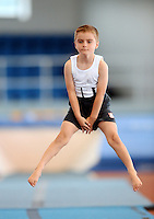 20 Aug 2016: Aidan Kavanagh, from Wexford, performs in the U9 Gymnastics.   2016 Community Games National Festival 2016.  Athlone Institute of Technology, Athlone, Co. Westmeath. Picture: Caroline Quinn