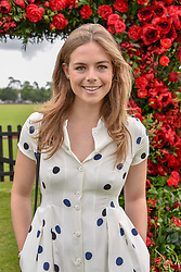 Rosie Tapner at the Cartier Queen's Cup Polo 2019 held at Guards Polo Club, Windsor, Berkshire. UK 16 June 2019 - <br /> <br /> Photo by Dominic O'Neill/Desmond O'Neill Features Ltd.  +44(0)7092 235465  www.donfeatures.com