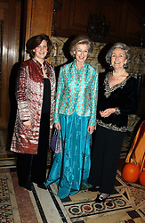 Left to right, PRINCESS KATYA GALITZINE, HRH PRINCESS ALEXANDRA and PRINCESS JEAN GALITZINE at a recital and dinner to celebrate the 10th anniversary of The Galitzine Library held at 2 Temple Place, London WC2 on 16th November 2004.<br />