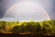 Brazilian BR-163 Highway, rainbows and shadows on the way. <br /> Mato Grosso, Brazil.