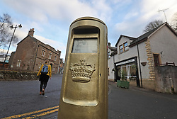 The gold post box in Andy Murray's home town of Dunblane, he has said he is aiming to end his career after Wimbledon but the Australian Open may be his last tournament.